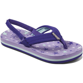 Reef Little Ahi Sandals Kids, purple stars